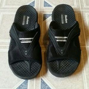 Skechers Shoes Platform Flip Flops Poshmark